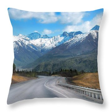 The Scenic Glenn Highway  Throw Pillow