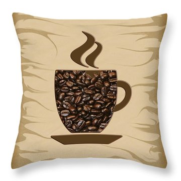 The Scent - Coffee Throw Pillow