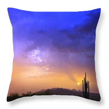 The Scent Of Rain Throw Pillow by Rick Furmanek