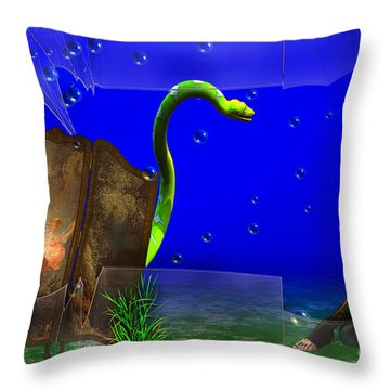 Throw Pillow featuring the digital art The Scent Of The Girl  by Liane Wright