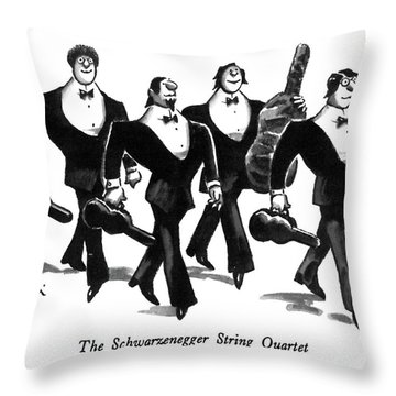 The Schwarzenegger String Quartet Throw Pillow