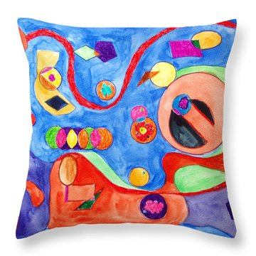The Science Of Shapes 1 Throw Pillow by Esther Newman-Cohen