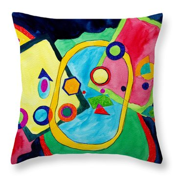 The Science Of Shapes 2 Throw Pillow by Esther Newman-Cohen