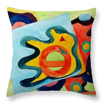The Science Of Shapes 3 Throw Pillow by Esther Newman-Cohen