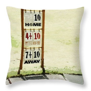 The Score Board Throw Pillow by Steve Taylor