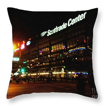 Throw Pillow featuring the photograph The Scott Trade Center by Kelly Awad