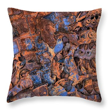 The Scrap Pile Throw Pillow