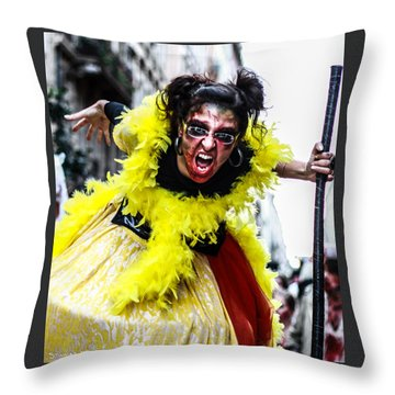 Throw Pillow featuring the photograph The Scream Crusher by Stwayne Keubrick