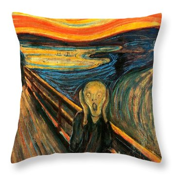 The Scream Edvard Munch 1893                    Throw Pillow