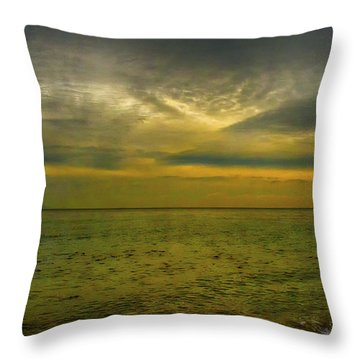 Throw Pillow featuring the photograph The Sea And Sky by Joseph Hollingsworth