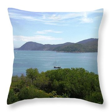 The Sea Beyond Throw Pillow by Giuseppe Epifani