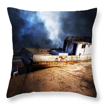 Throw Pillow featuring the photograph The Sea Never Gives Up Her Dead Dsc2099 by Wingsdomain Art and Photography