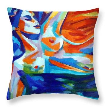 The Sea Of Life Throw Pillow by Helena Wierzbicki