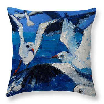 The Seagulls Throw Pillow