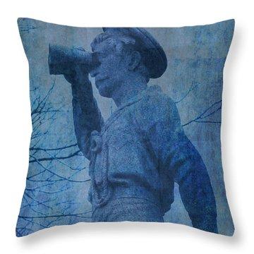 The Seaman In Blue Throw Pillow