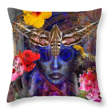 The Search For Hibiscus Life Throw Pillow