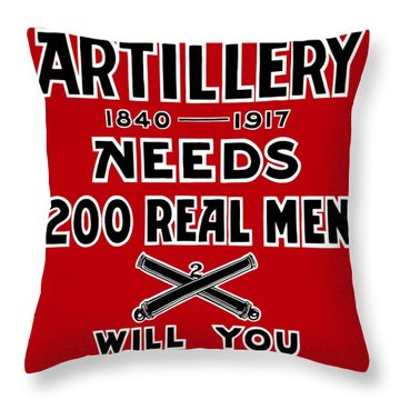 The Second Artillery Needs 200 Real Men Throw Pillow