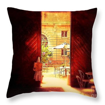 The Secret Courtyard  Throw Pillow