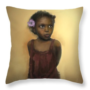 Throw Pillow featuring the digital art The Secret by Dwayne Glapion