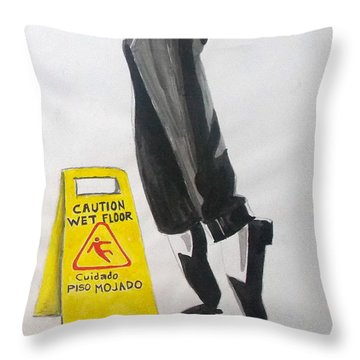 Throw Pillow featuring the painting The Secret El Secreto by Lazaro Hurtado