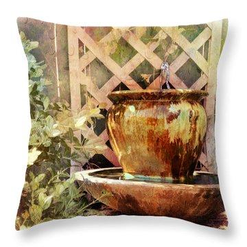 The Secret Fountain Throw Pillow