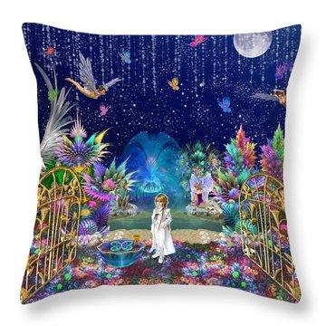 The Secret Garden Throw Pillow by Peggi Wolfe