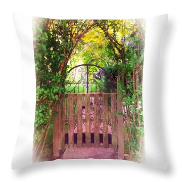 The Secret Gardens Gate Throw Pillow