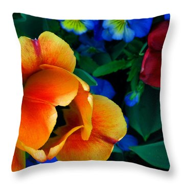 Throw Pillow featuring the photograph The Secret Life Of Tulips by Rory Sagner
