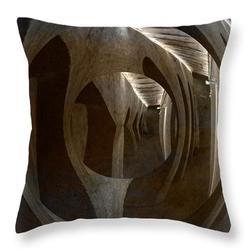 The Secrets Of The Admiral Hotel In Copenhagen Throw Pillow by Angela A Stanton