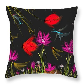The Secrets Of The Night Throw Pillow by Angela A Stanton