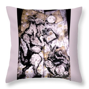 The Seduction Throw Pillow by Sol Robbins