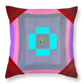 Throw Pillow featuring the painting The Seed by Lorna Maza