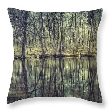 The Sentient Forest Throw Pillow