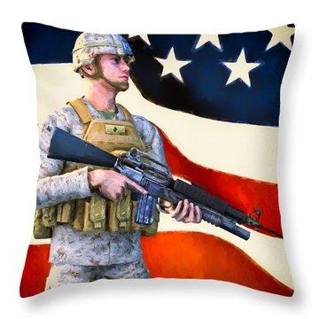 The Sentry Throw Pillow by Bob Orsillo