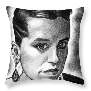 The Serbian Girl Throw Pillow