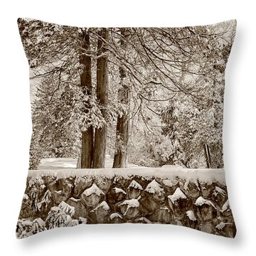 The Serenity Of Winter Throw Pillow by Tricia Marchlik