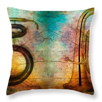 The Serpent And Euphonium -  Featured In Spectacular Artworks Throw Pillow