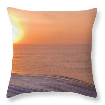 The Setting Sun Shining Through Throw Pillow by Kevin Smith