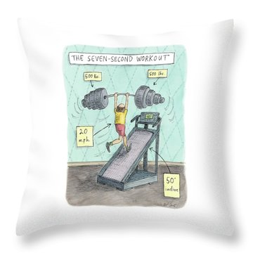 The Seven Second Workout Throw Pillow