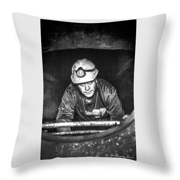 Throw Pillow featuring the photograph The Sewer Guy by Stwayne Keubrick