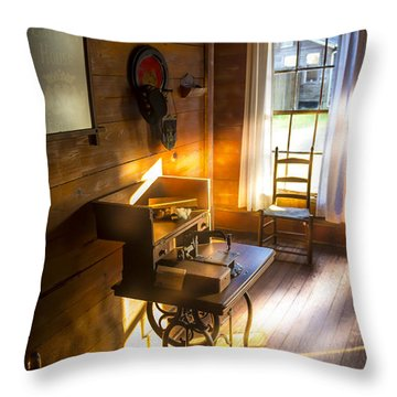 The Sewing Room Throw Pillow by Marvin Spates