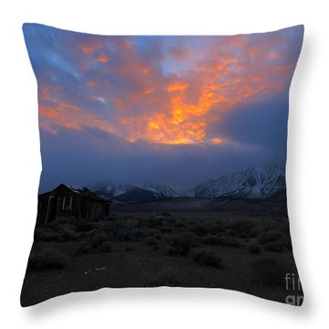The Shack V.1 Throw Pillow by Paul Foutz