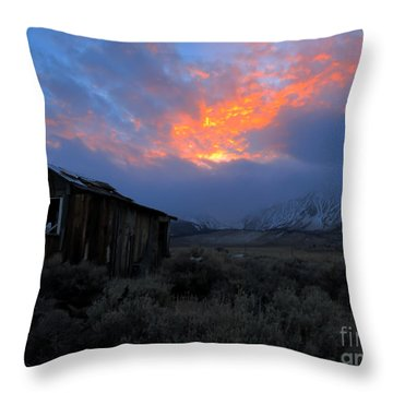 The Shack V.2 Throw Pillow by Paul Foutz
