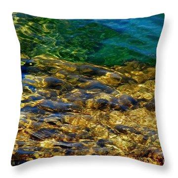 The Shallows Throw Pillow by Andrea Kollo