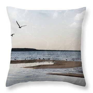 The Shallows At Whitefish Bay Throw Pillow