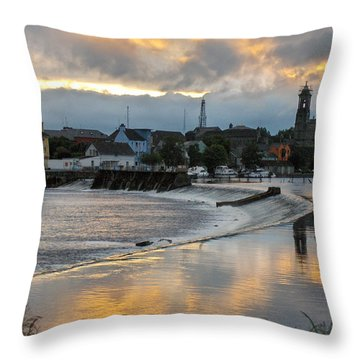 Throw Pillow featuring the photograph The Shannon River by Brenda Brown