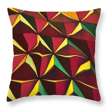 Shapes Of Color Throw Pillow by Kellice Swaggerty