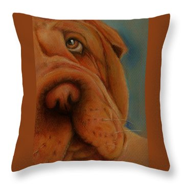 The Shar-pei  Throw Pillow by Jean Cormier