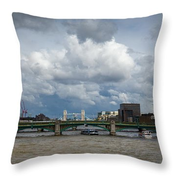 The Shard And Thames View Throw Pillow