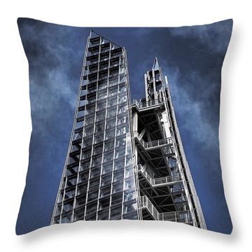 The Shards Of The Shard Throw Pillow by Rona Black